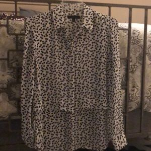 Banana Republic tiered roll sleeve blouse